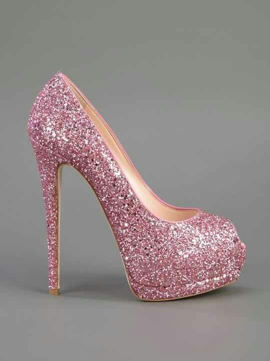 Shining Pink Heels