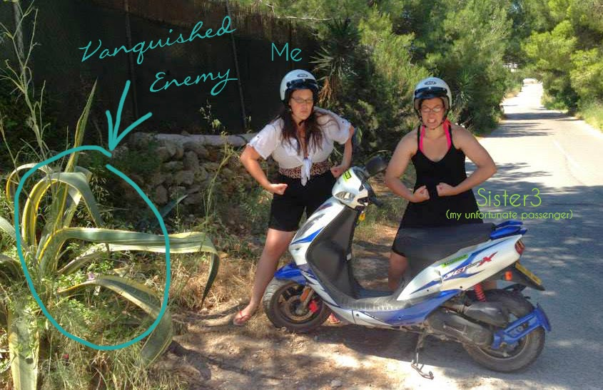Jenn and her sister proudly display the motorbike accident scene | Business, Life & Design