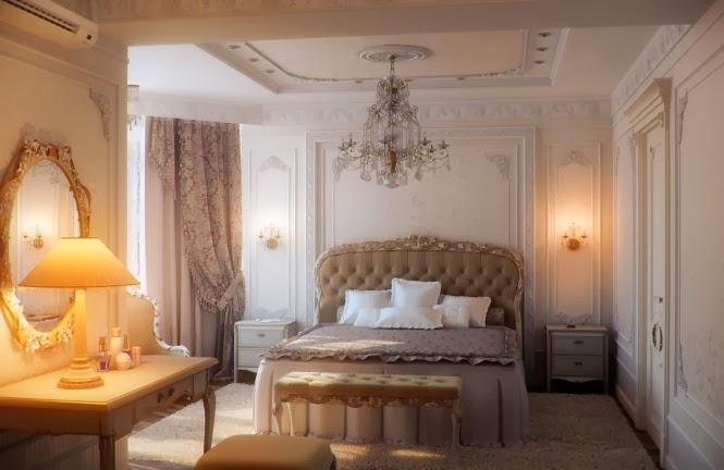 Chambres À coucher Avec Elégance Traditionnelle