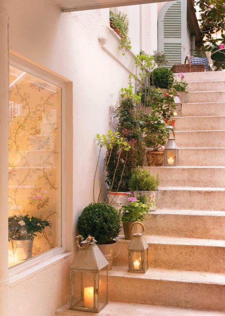Las escaleras dentro de casa mi casa es feng - Escaleras jardin ...
