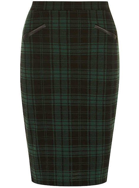 green tartan skirt