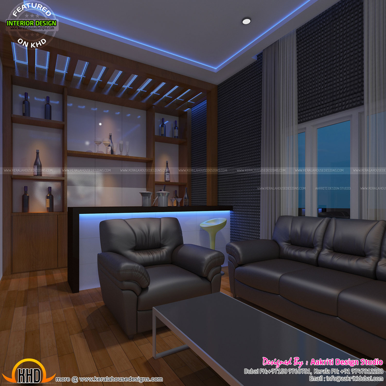 Home theater bar area bedroom and kids room kerala for Kids media room