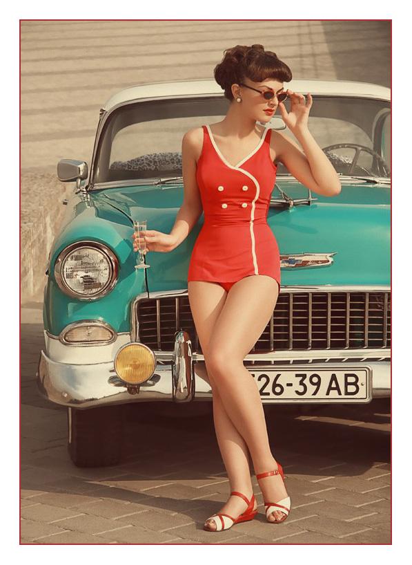 Vintage Bathing Suits Hot Girls Wallpaper