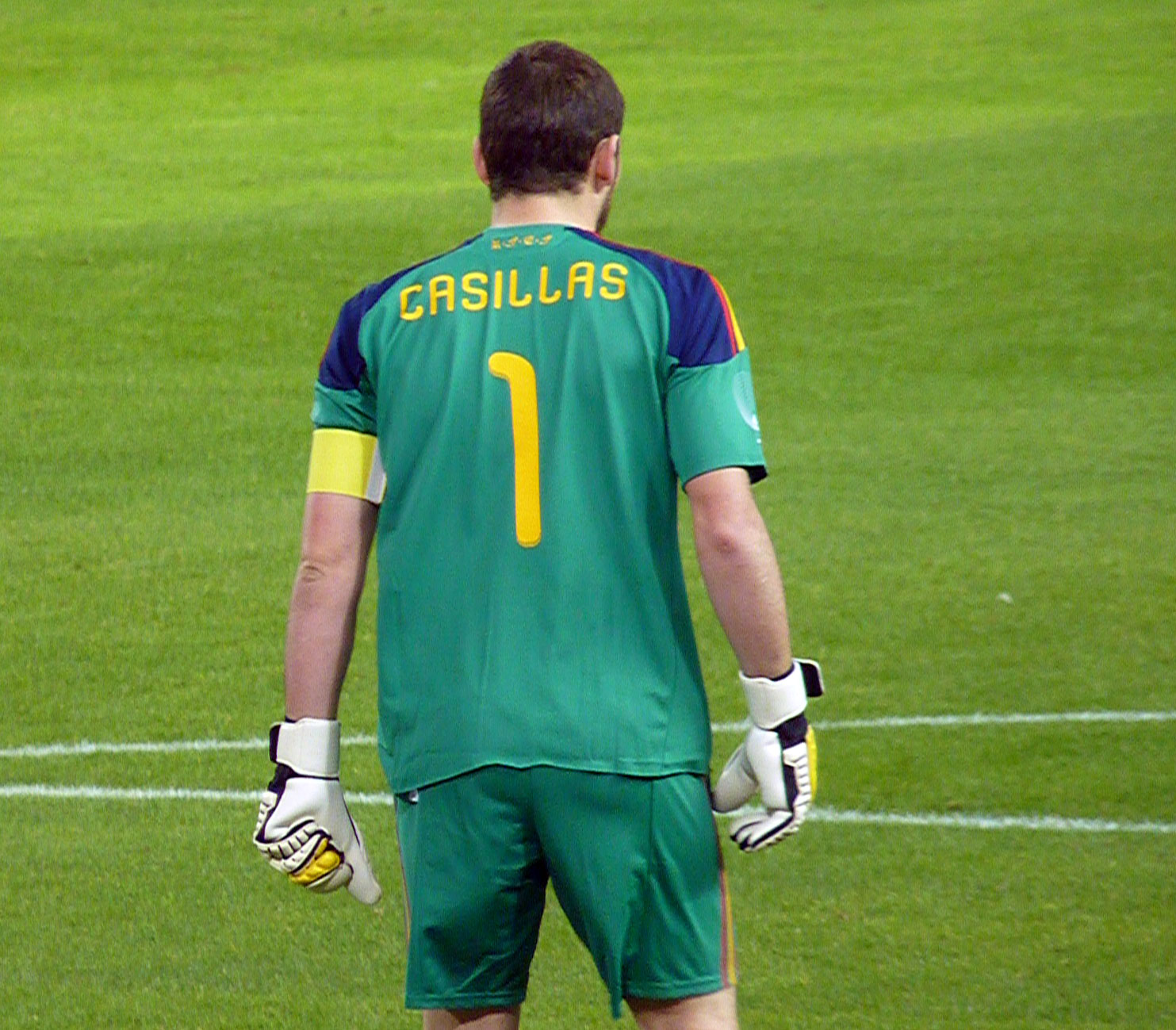 SPANISH FOOTBALL TEAM   IKER CASILLAS MOST CAPPED PLAYER IN ALL