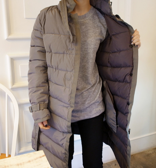Gray Quilted Coat