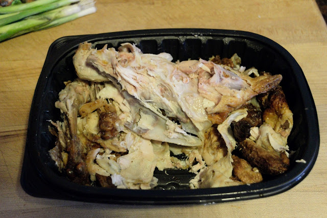 A picture of the picked chicken bones.