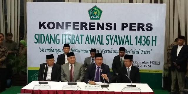 Menteri Agama Tetapkan Idul Fitri 1436 H pada Jumat Besok