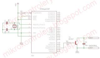 Uproszczony schemat podłączenia emulatora kart RFID.
