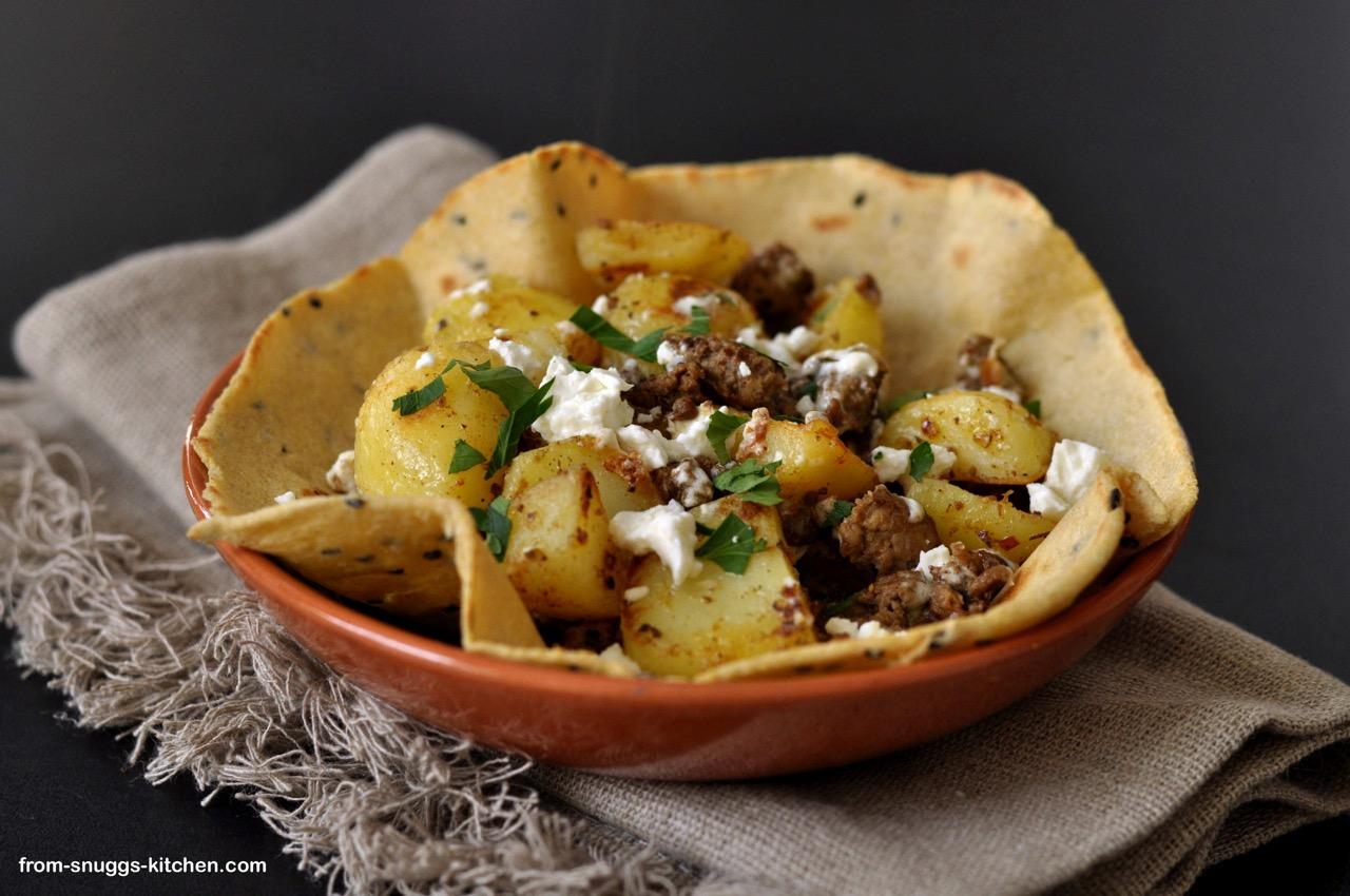 Tacos mit Kartoffeln & Feta