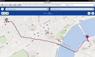 Nokia Maps: navegación por voz en rutas a pie