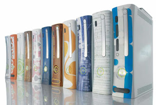 Xbox 360 gaming consoles with custom face plate