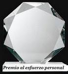 ¬ Premio Al Esfuerzo Personal 2008...