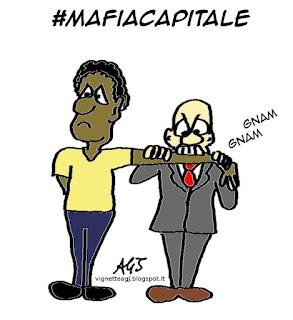 mafiacapitale, satira vignetta