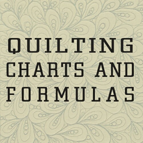 Jane's Quilting: Quilt Charts and Formulas : quilting charts - Adamdwight.com