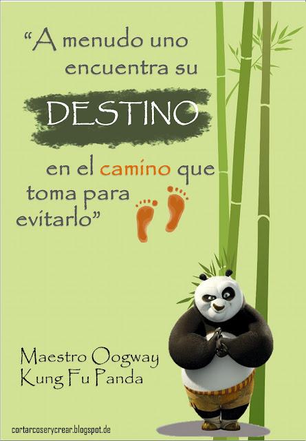Lámina Enseñanzas del Maestro Oogway