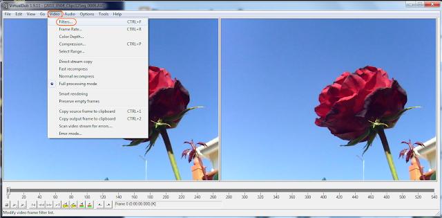VirtualDub -  corte de video - passo 1