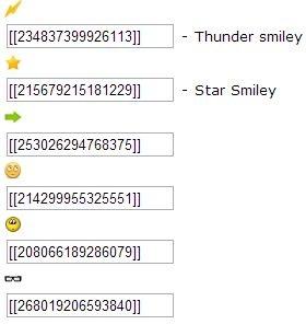 Ký hiệu biểu tượng chat Facebook - comments FB 2013