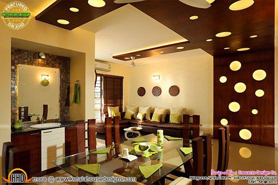 Flat dining room interior