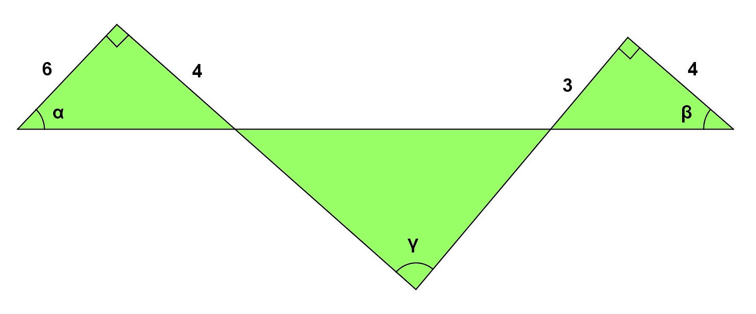 how to find an unknown angle in a right triangle