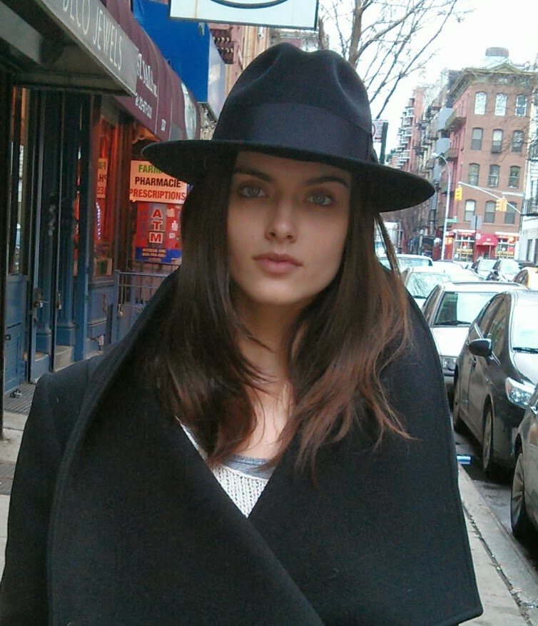 Zuzana G wearing Fedora from The Hat House NY