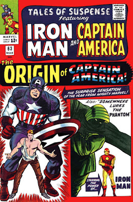 Origin of Captain America, Tales of Suspense #63, cover