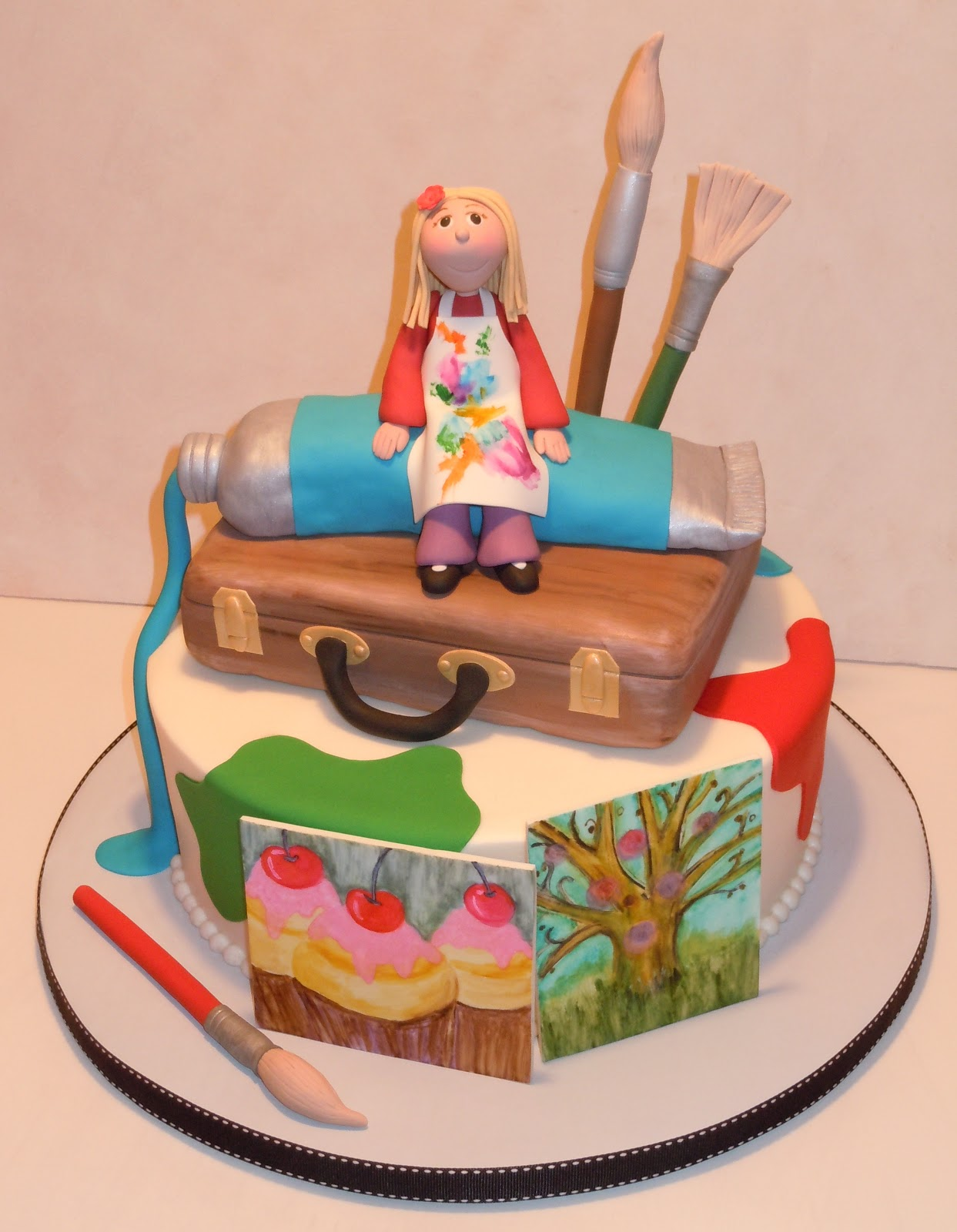 Art Gallery Birthday Cake : Kids Birthday cakes on Pinterest Rainbow Cakes, Artist ...