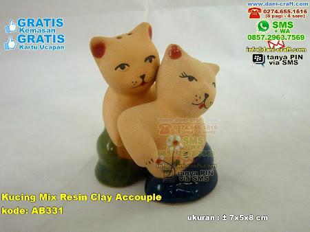 Kucing Mix Resin Clay Accouple