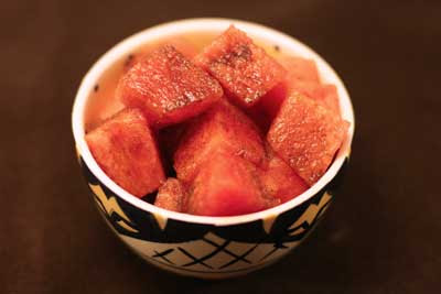 watermelon with pepper and balsamic vinegar