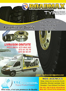 TEL +237(6) 75864 343 - ROADMAX BRAND –DOUALA- FOR ALL TYRE PROBLEMS IN CAMEROON