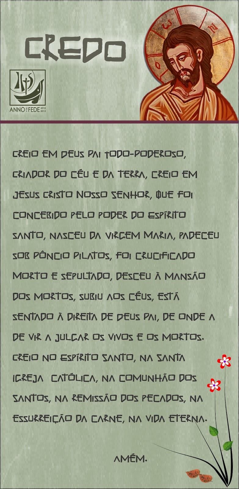 Super Oração Católica: Credo em Português (ver imagem) VU86