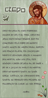 imagem do Credo em Portuguê