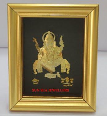 GANESHA, GOLD, SILVER, FRAMES, 24KT GOLD, GIFT, DIWALI, NEW DELHI ...