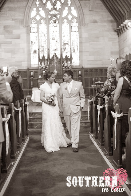 Wedding Ceremony Recap - Traditional Church Ceremony - St Paul's Anglican Church, Burwood - Walking down the aisle as Husband and Wife