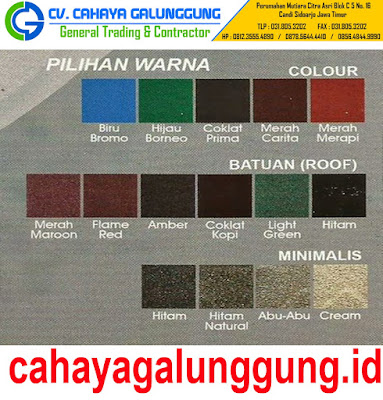 WARNA GENTENG METAL PRIMA ROOF