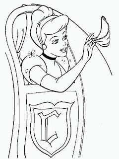 Dibujos de Cenicienta para Pintar, parte 4