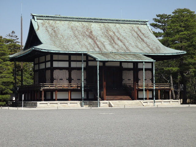 Shunkoden with copper roof, was built to place the sacred mirror on the occasion of the enthronement ceremony of Emperor Taisho at Kyoto Imperial Palace, Japan
