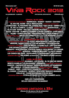 cartel Viña Rock 2012
