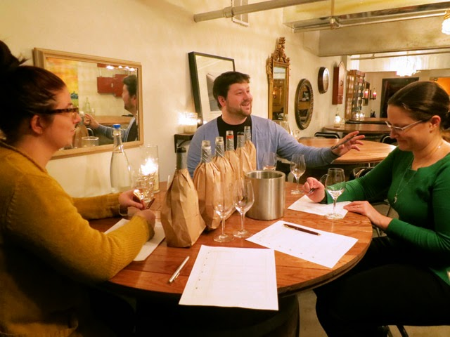 Blind tasting Vidal wines at iYellow Wine Cave