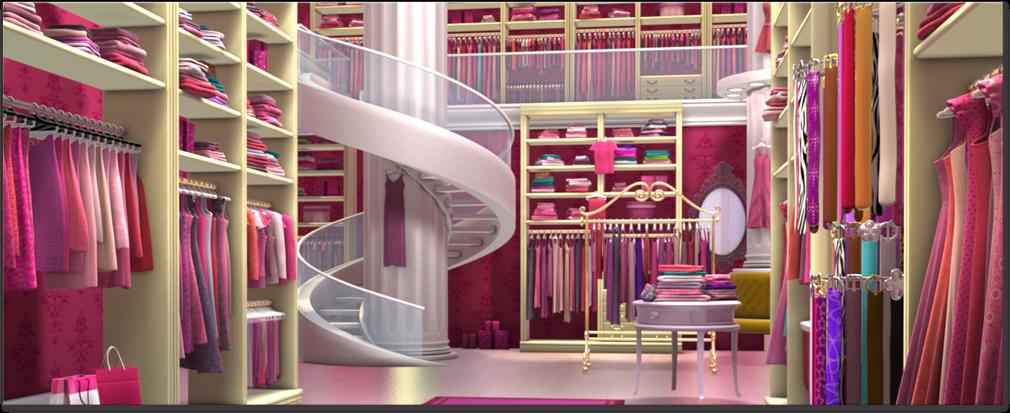 Barbie Life In The Dreamhouse Armario De Princesa : Espa?o da garota arm?rio barbie