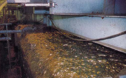 the process of drying and smelting
