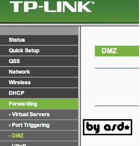 Interfaz del panel del router tp link