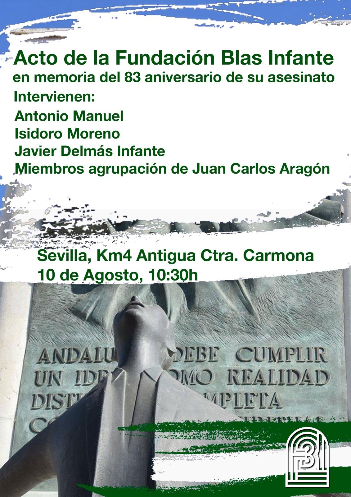 ACTO HOMENAJE EN CONMEMORACIÓN DEL 83 ANIVERSARIO DEL ASESINATO DE BLAS INFANTE.