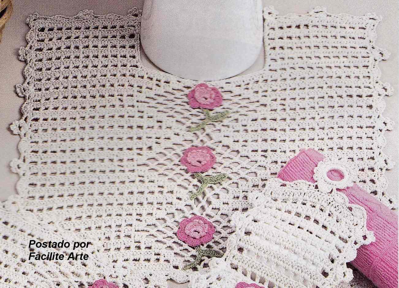 Facilite Sua Arte: Jogo de Banheiro 4 Tapete do Vaso #8E3D63 1302 938