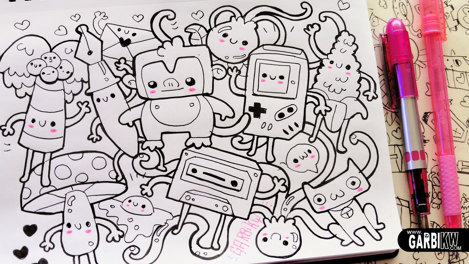 follow the monkey hello doodles easy and kawaii drawings by