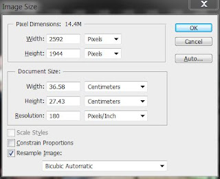 photoshop cs6 : image size screen