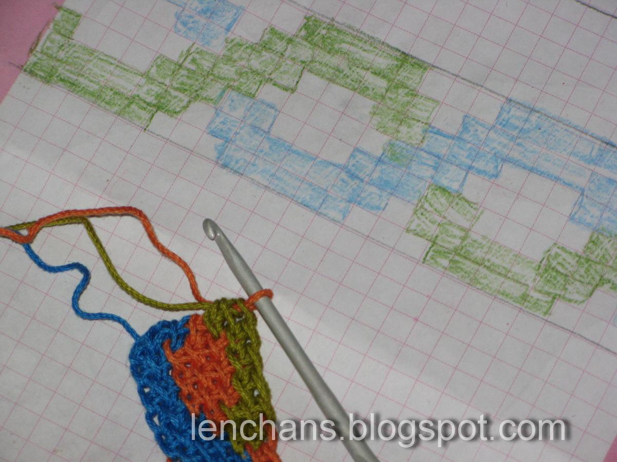 Вязание цветного рисунка