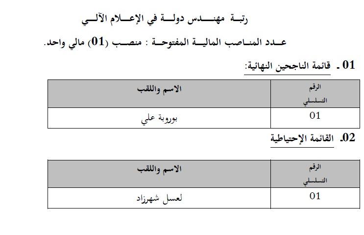 إعلان قائمة الناجحين في مسابقة التوظيف في وزارة التجارة ماي 2014 2.jpg