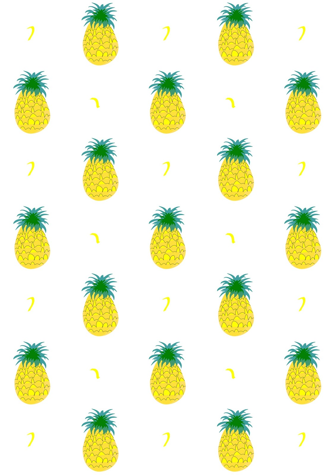 picture about Printable Pineapple identified as Absolutely free electronic fruity pineapple sbooking paper