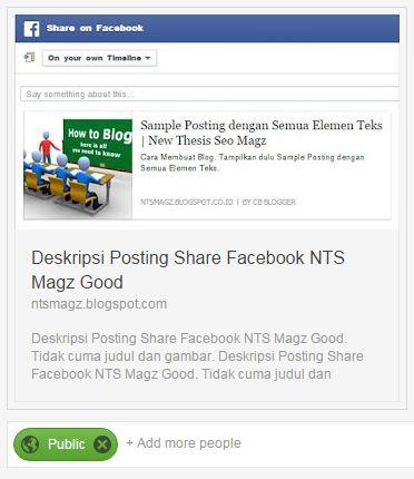 Deskripsi Posting Share Google plus NTS Magz Good. Tidak cuma judul dan gambar.