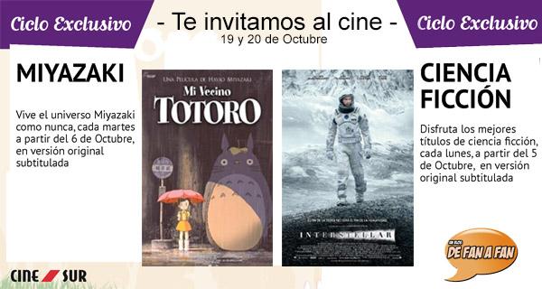 """Concurso Ciclos Cinesur: Te invitamos a ver """"Mi Vecino Totoro"""" y """"Interstellar"""""""